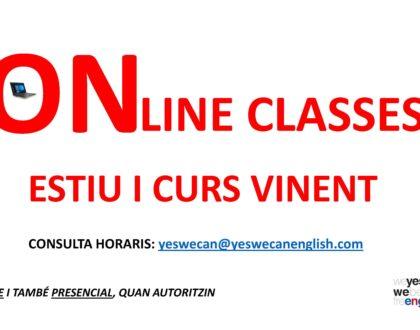 Classes online i presencials