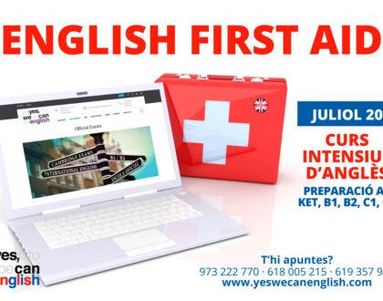 ENGLISH FIRST AID - Juliol 2021