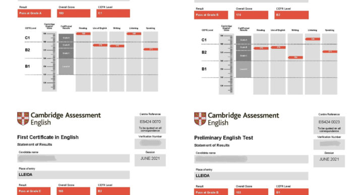 Cambridge Exams. Congratulations!